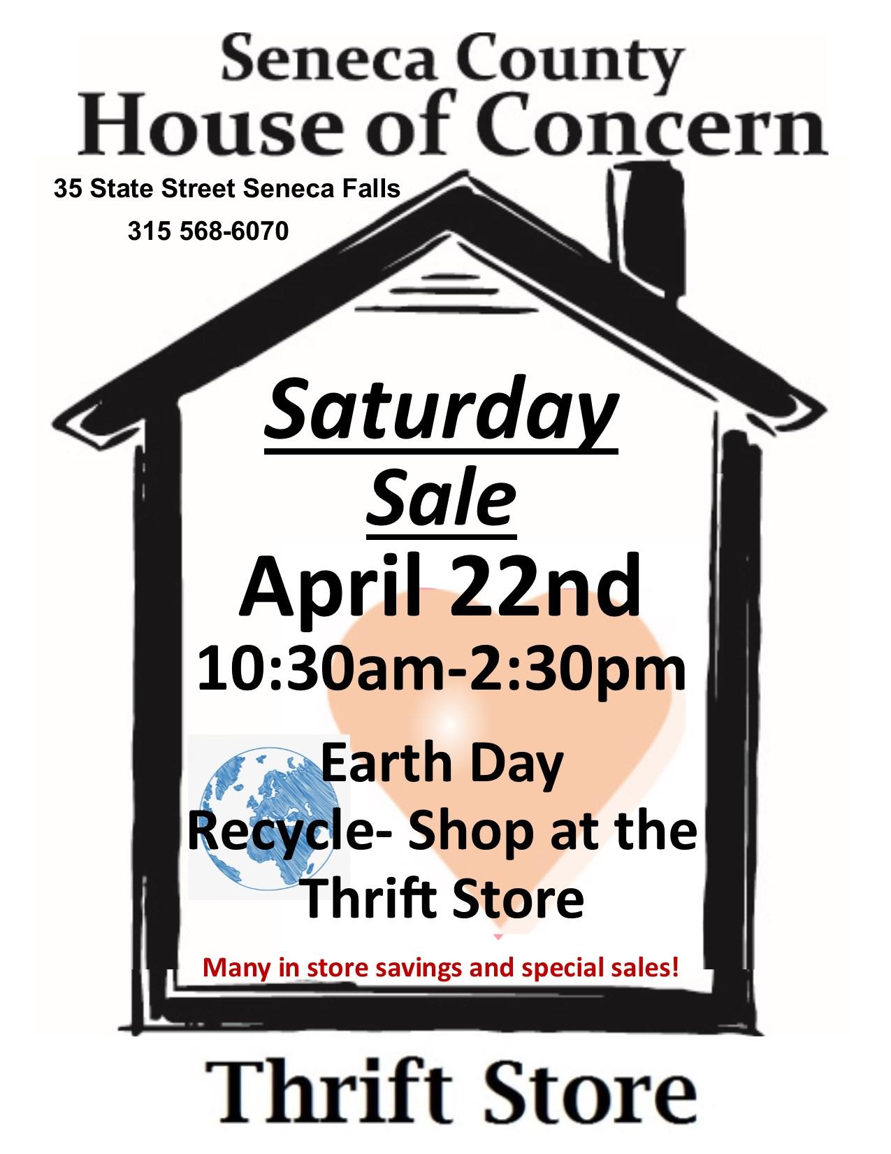 Saturday Sale - 4/22/17