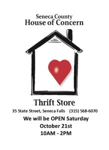 HOC Thrift Store Saturday Sales
