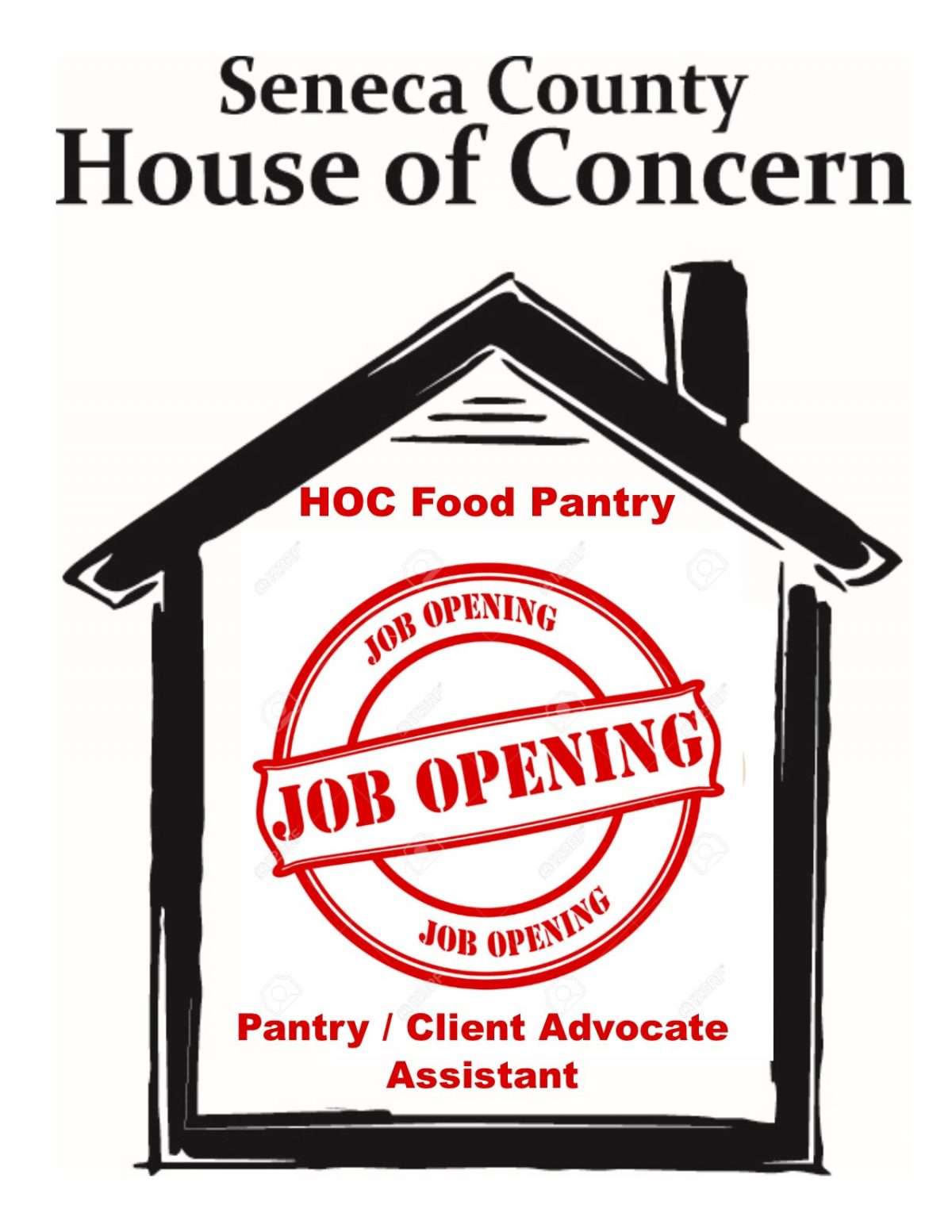 Job Opening – Pantry / Client Advocate Assistant