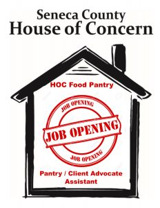 Job Opening - Pantry / Client Advocate Assistant