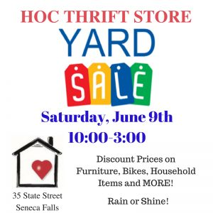 HOC Thrift Store Yard Sale