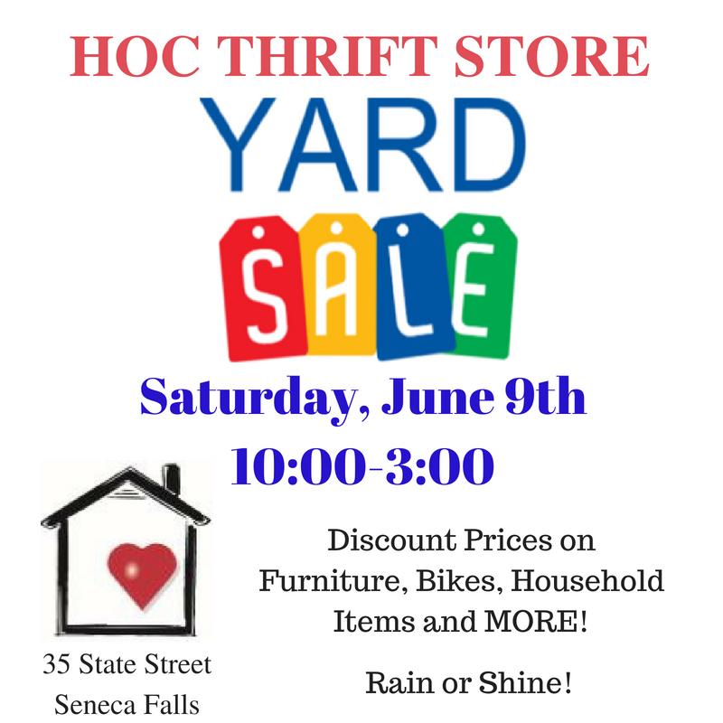 HOC Thrift Store Yard Sale